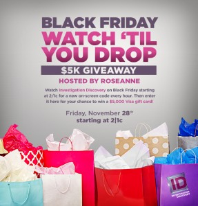 Investigation Discovery Black Friday Giveaway