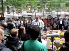 Roseanne Barr at Occupy Wall St Rally