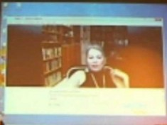 Roseanne Barr Green Party Presidential Candidate Skype to Illinois State Convention